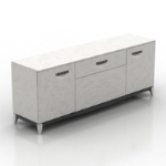 European model of simple chest of drawers