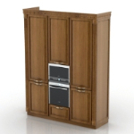 retro wood wardrobe 3d models