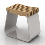 3d model of elegant stools