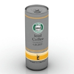 3d model of canned coffee