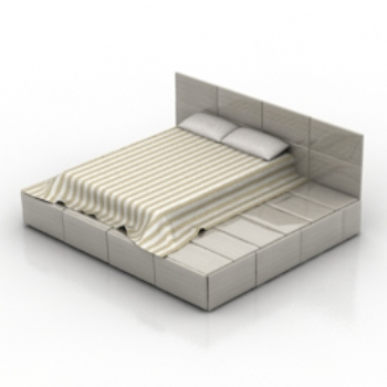 simple and stylish European-style bed model