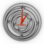 Round the clock model creative background wound