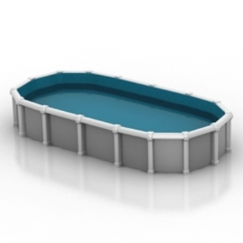 Simple Model Of Private Swimming Pools 3d Model Download Free 3d Models Download