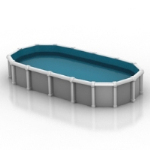simple model of private swimming pools