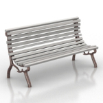 Silver model benches