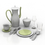 Western-style tableware combination model