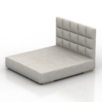 simple gray bed model