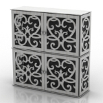 blue and white porcelain texture drawers model