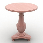 Quaint wooden round table model