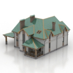 green villa 3D models