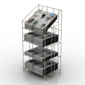 Newspaper reading frame to take 3D models