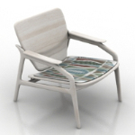 white worn chair model