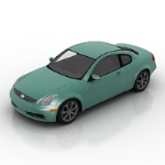 dark green stylish sedan model