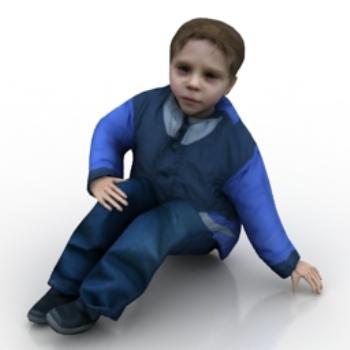 little boy sitting on the floor model