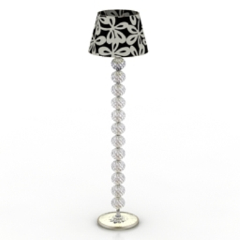 black and white crystal floor lamp model textures