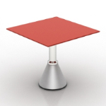 red table model