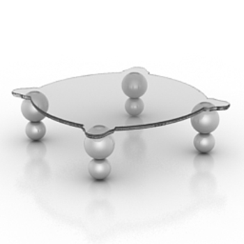 clear glass coffee table model