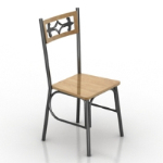 pattern wooden chair model