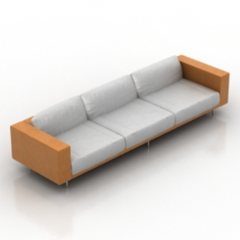 orange white sofa model
