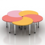 creative stitching petal table model