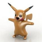 angry Pikachu model
