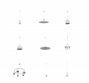 All kinds of chandeliers 3D model