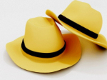 Yellow black cowboy hat edge 3D model