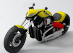 Cool heavy motorcycles 3d models