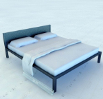 Simple 3d model Bed
