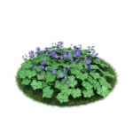 Green purple 3D model