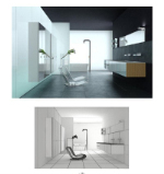 Clean air bathroom 3D model