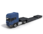 Loading and unloading truck 3D model