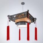 Chinese-style chandeliers 3D model