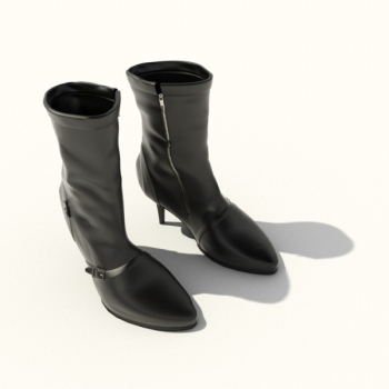 High-heeled boots in 3D