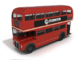3D model of red double-decker bus