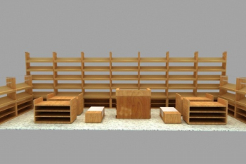 3d model wooden display stand