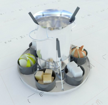 Exquisite food fruit plate 3D model