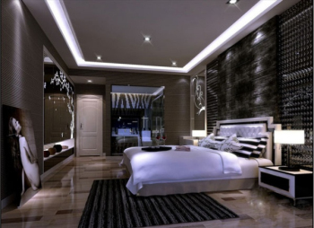 After ultra modern bedroom 3D model