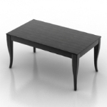 black textured table model