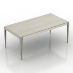white small table model