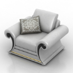 White Armchair model