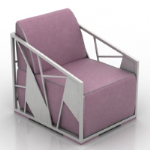 pink and purple armchair model