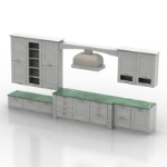 light-colored kitchen cabinets model