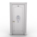 white wooden door model