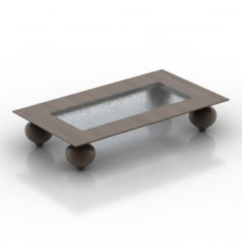 Creative white coffee table model