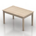 Simple wooden table model