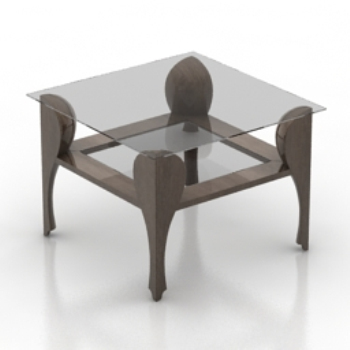 transparent model of a modern coffee table