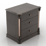Gray and black vanity cabinet model