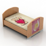 cute pink child bed model