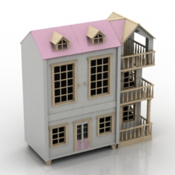 Pink romantic villa model